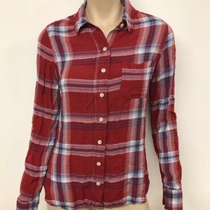 Red plaid Mossimo top